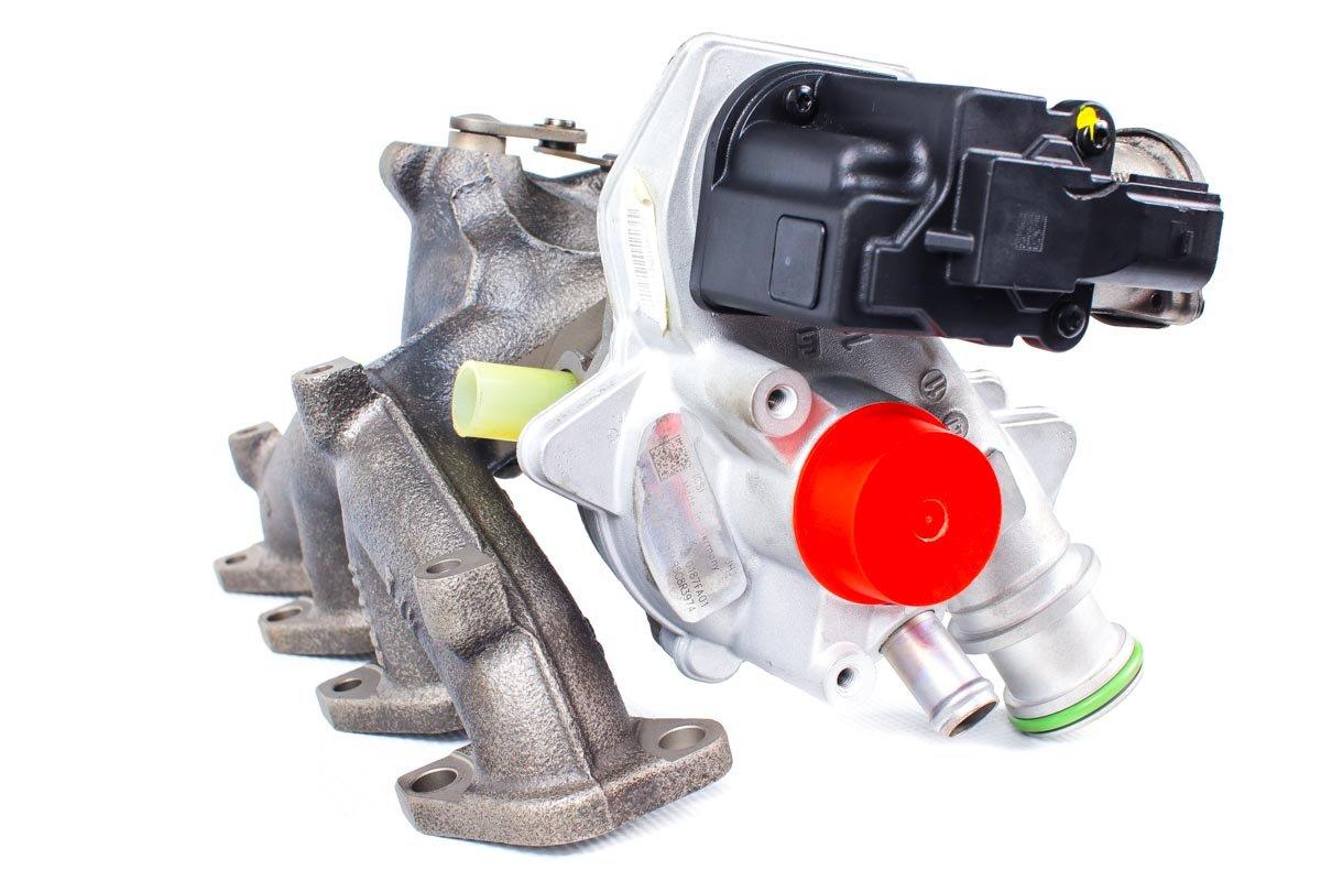 Turbosprężarka z numerem {numerglowny} po regeneracji w specjalistycznej pracowni regeneracji turbosprężarek przed odesłaniem do kontrahenta