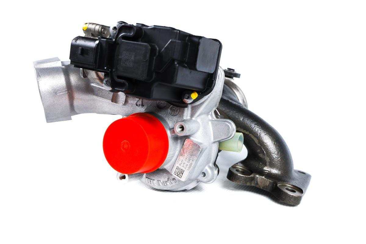 Turbosprężarka z numerem {numerglowny} po regeneracji w profesjonalnej pracowni regeneracji turbosprężarek przed wysyłką do Klienta