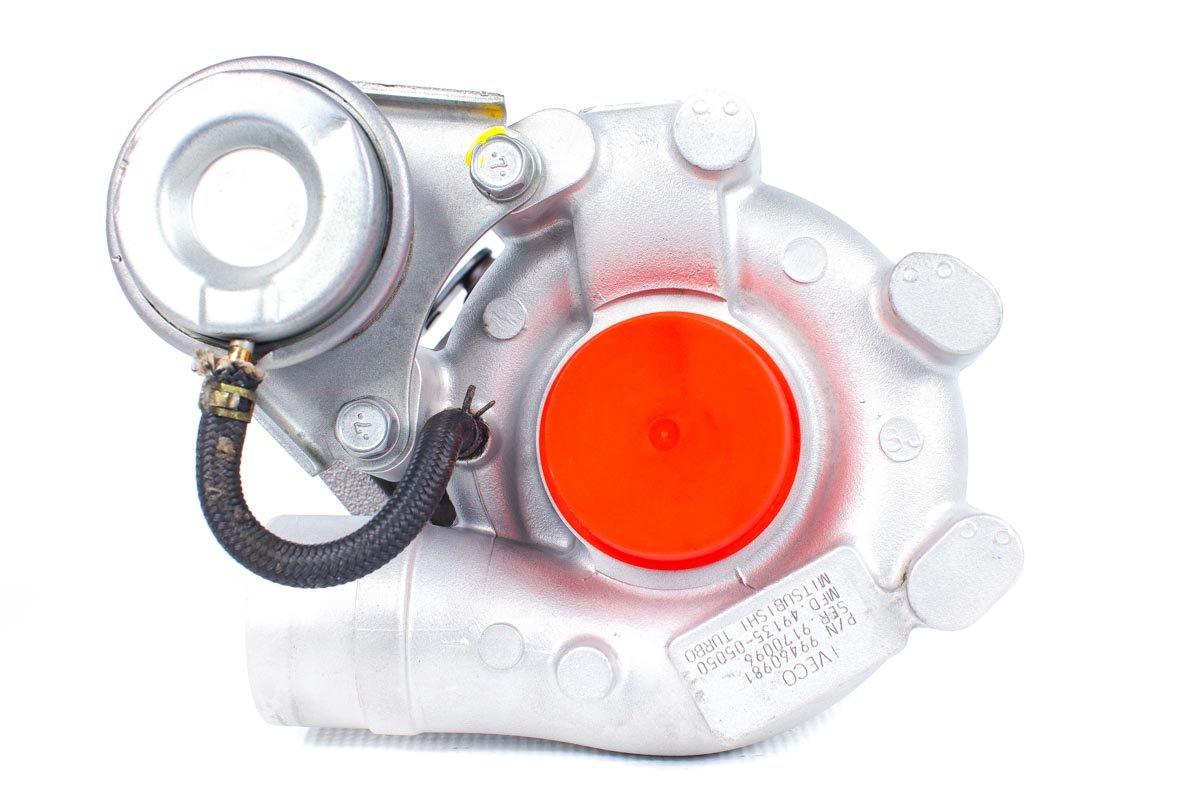 Turbosprężarka o numerze {numerglowny} po zregenerowaniu w najwyższej jakości pracowni regeneracji turbosprężarek przed odesłaniem do Klienta