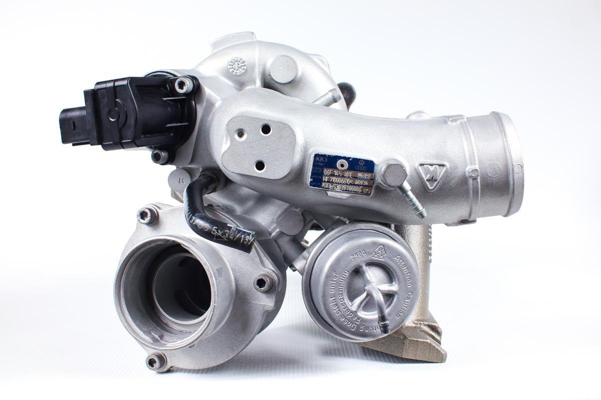 Turbosprężarka o numerze {numerglowny} po przywróceniu do pełnej sprawności w najnowocześniejszej pracowni regeneracji turbosprężarek przed odesłaniem do kontrahenta
