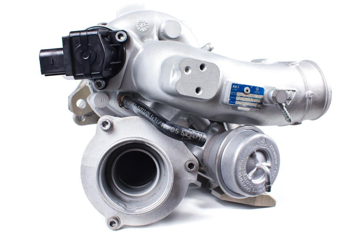 Turbosprężarka z numerem {numerglowny} po przywróceniu do pełnej sprawności w specjalistycznej pracowni regeneracji turbo przed odesłaniem do zamawiającej firmy