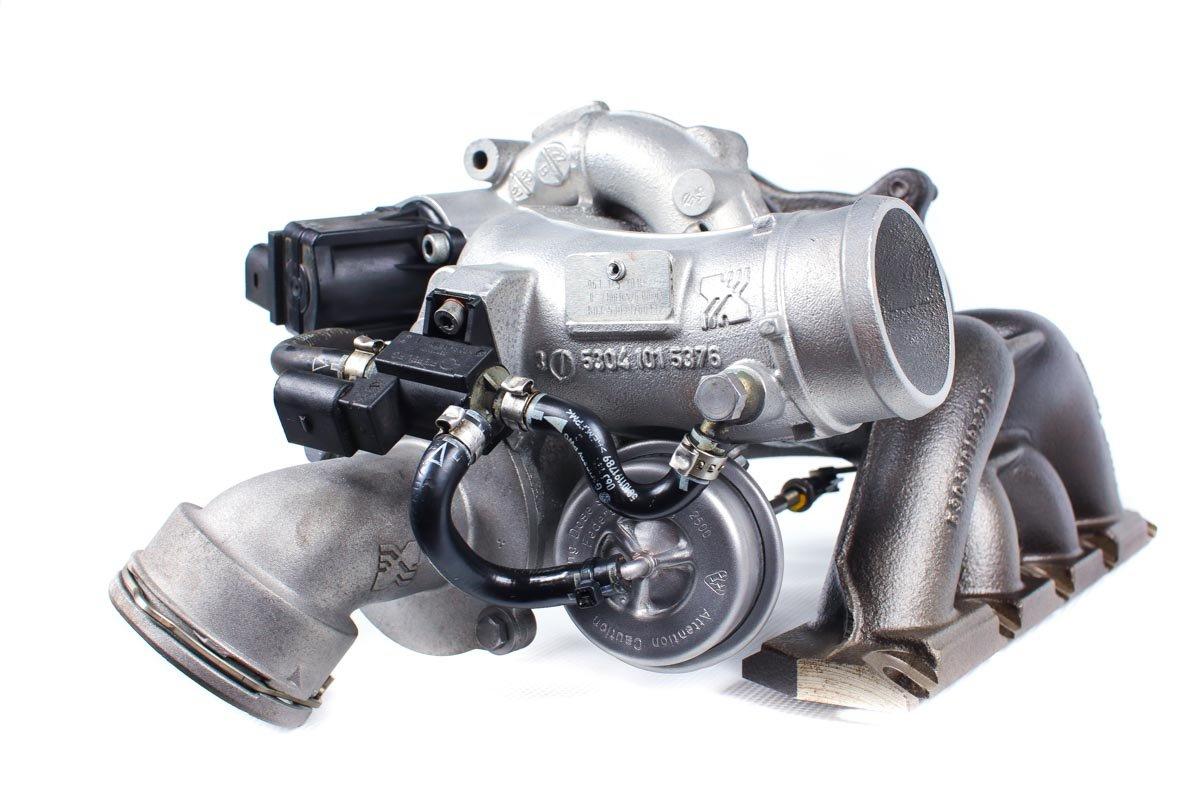 Turbina numer {numerglowny} po przywróceniu do pełnej sprawności w najwyższej jakości pracowni regeneracji turbosprężarek przed wysyłką do zamawiającej firmy