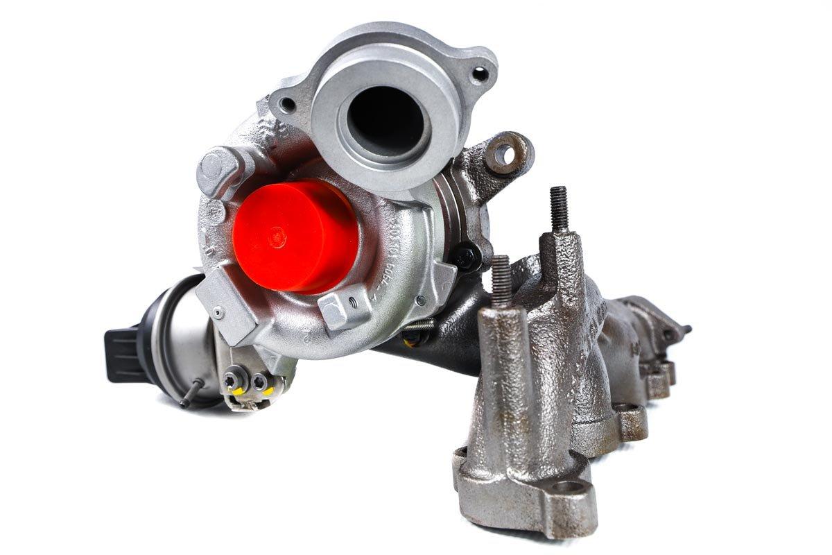 Turbosprężarka z numerem {numerglowny} po przywróceniu do pełnej sprawności w profesjonalnej pracowni regeneracji turbo przed wysłaniem do zamawiającej firmy