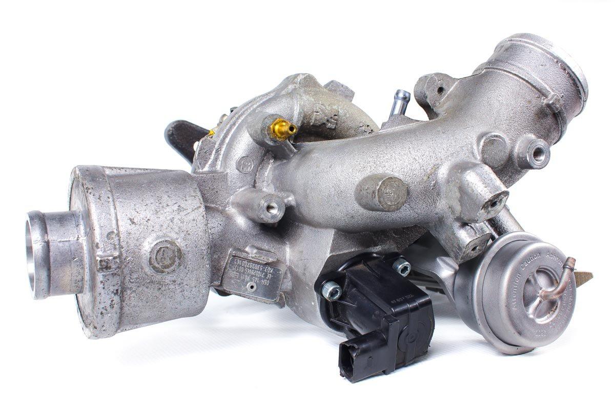 Turbosprężarka z numerem {numerglowny} po przywróceniu do pełnej sprawności w profesjonalnej pracowni regeneracji turbin przed wysłaniem do zamawiającej firmy