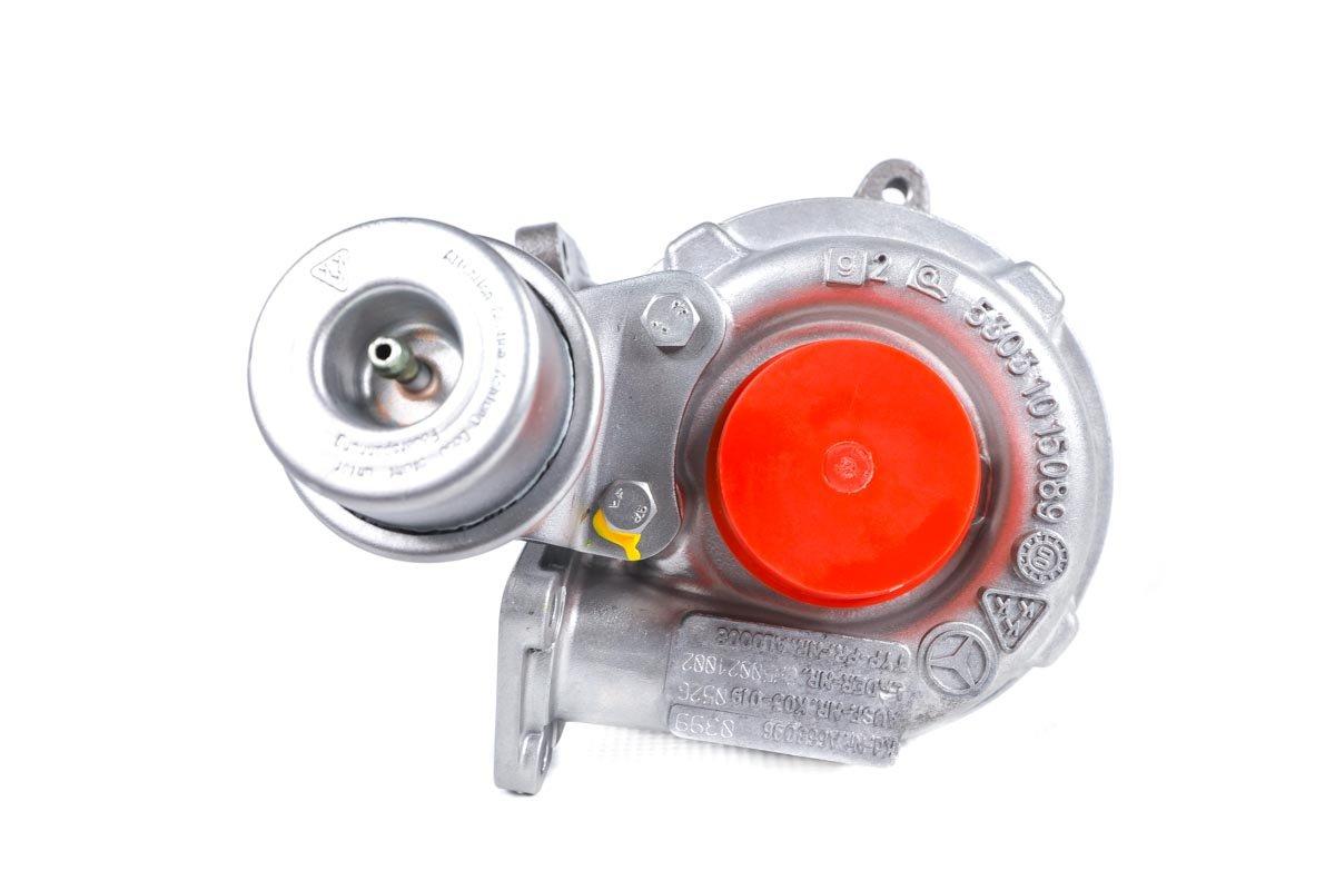 Turbosprężarka z numerem {numerglowny} po regeneracji w najnowocześniejszej pracowni regeneracji turbo przed odesłaniem do kontrahenta