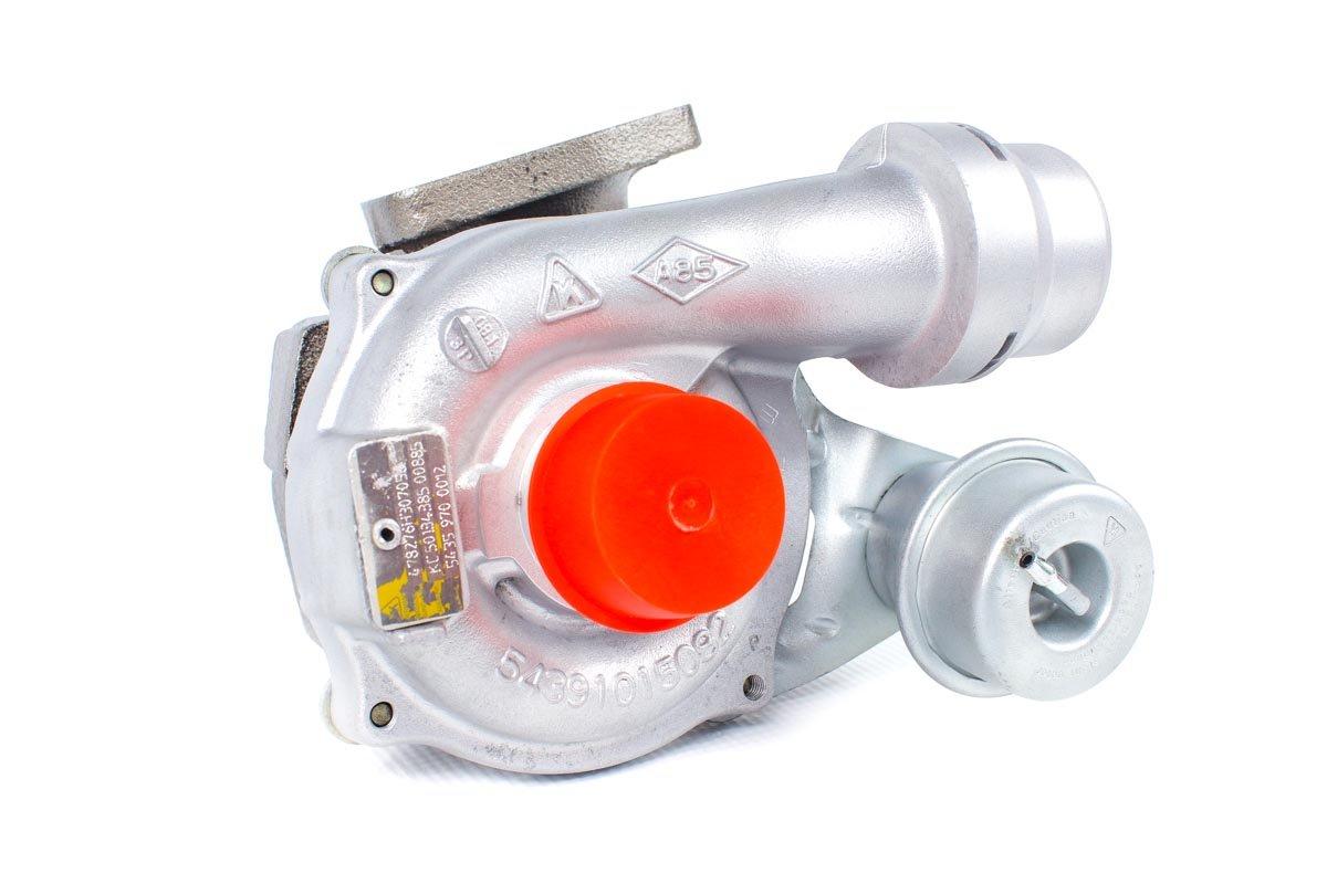 Turbosprężarka z numerem {numerglowny} po naprawie w najnowocześniejszej pracowni regeneracji turbosprężarek przed wysyłką do warsztatu
