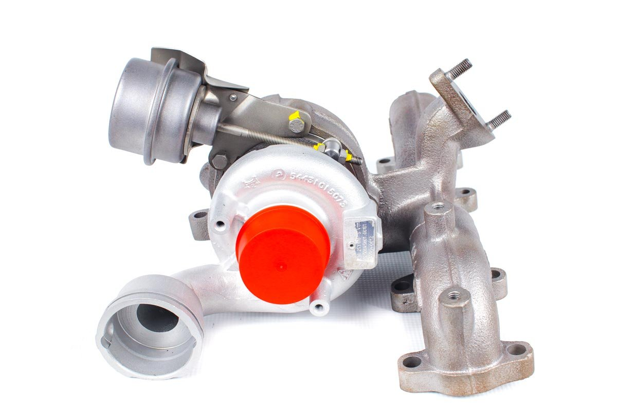 Turbosprężarka o numerze {numerglowny} po naprawie w najnowocześniejszej pracowni regeneracji turbosprężarek przed odesłaniem do kontrahenta