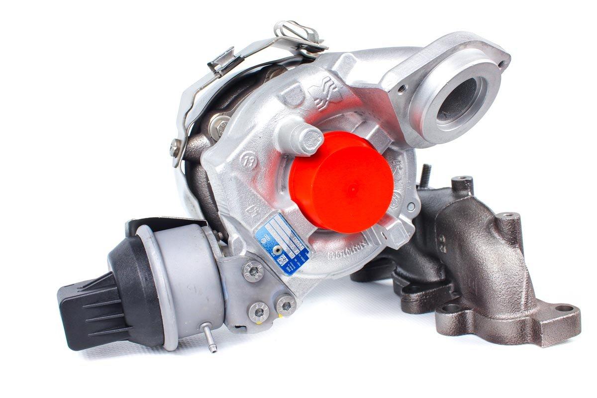 Turbosprężarka z numerem {numerglowny} po naprawie w profesjonalnej pracowni regeneracji turbin przed wysłaniem do Klienta