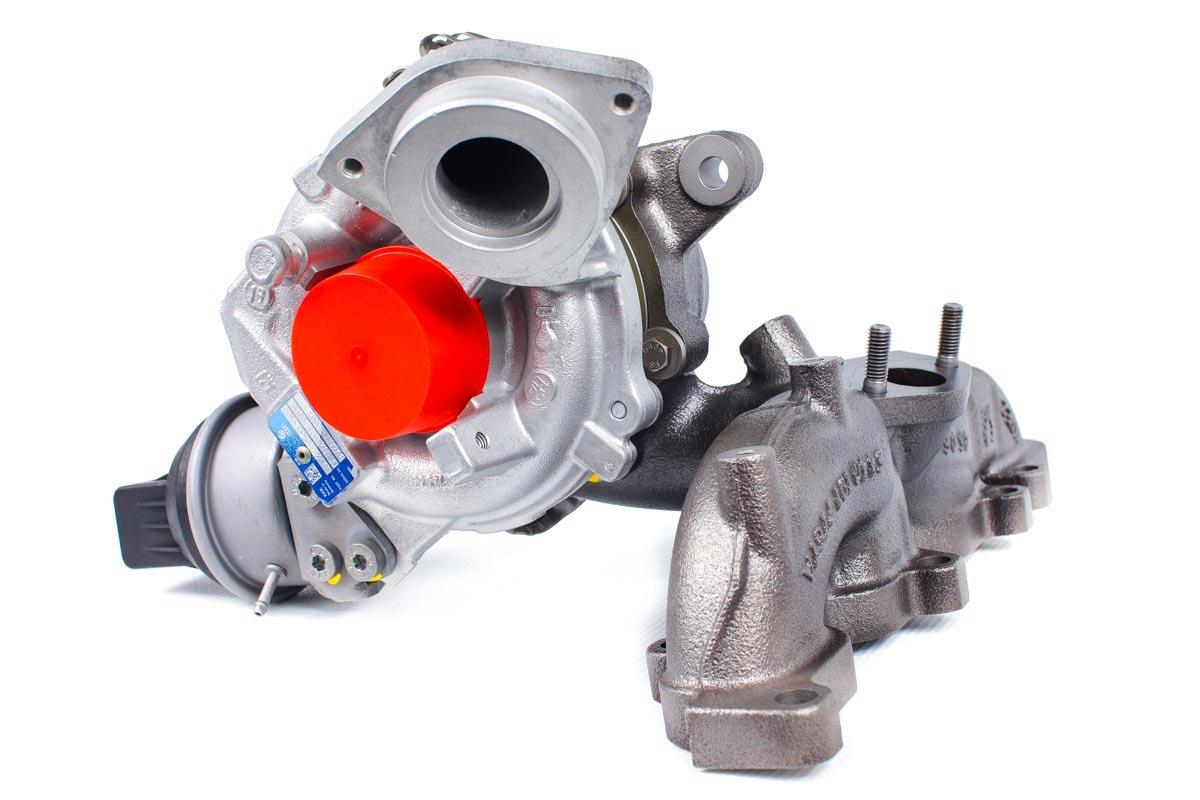 Turbina numer {numerglowny} po naprawie w najwyższej jakości pracowni regeneracji turbosprężarek przed odesłaniem do warsztatu samochodowego