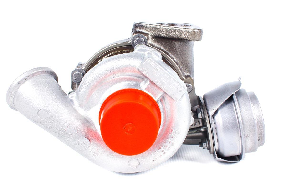 Turbosprężarka o numerze {numerglowny} po naprawie w najwyższej jakości pracowni regeneracji turbosprężarek przed odesłaniem do Klienta