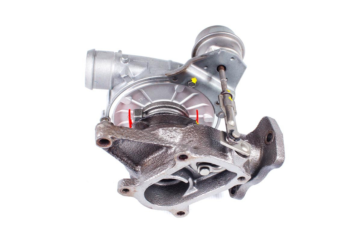 Turbosprężarka o numerze {numerglowny} po naprawie w najwyższej jakości pracowni regeneracji turbin przed odesłaniem do zamawiającego