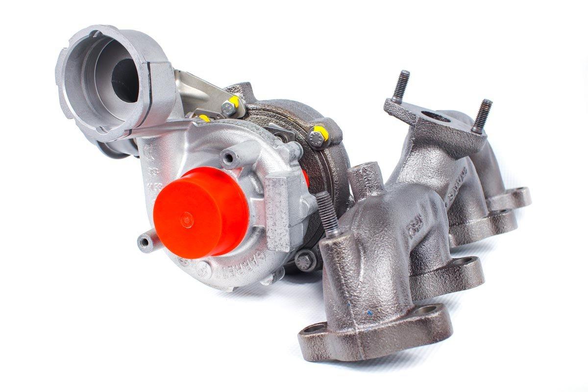 Turbosprężarka z numerem {numerglowny} po naprawie w specjalistycznej pracowni regeneracji turbin przed wysyłką do zamawiającej firmy