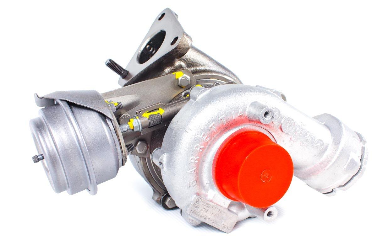 Turbina o numerze {numerglowny} po przywróceniu do pełnej sprawności w profesjonalnej pracowni regeneracji turbosprężarek przed wysłaniem do warsztatu