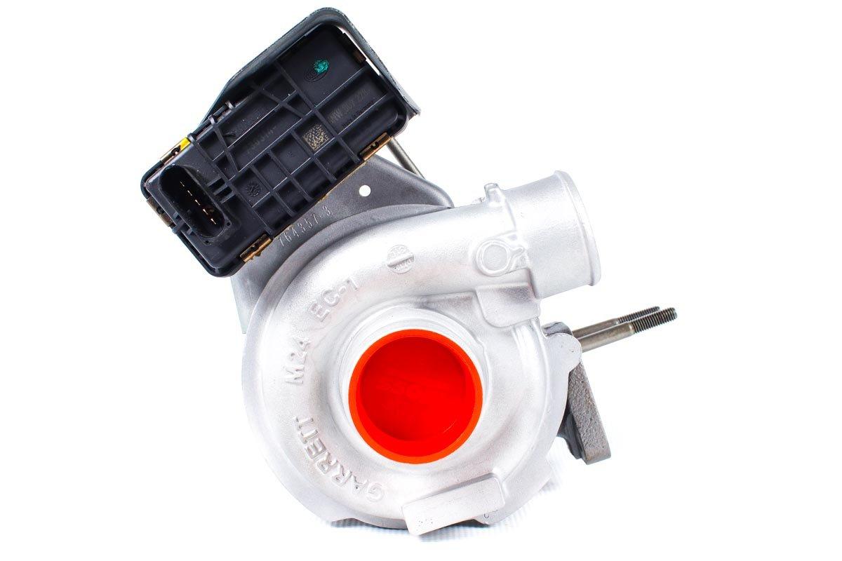 Turbosprężarka numer {numerglowny} po naprawie w najnowocześniejszej pracowni regeneracji turbo przed wysłaniem do Klienta