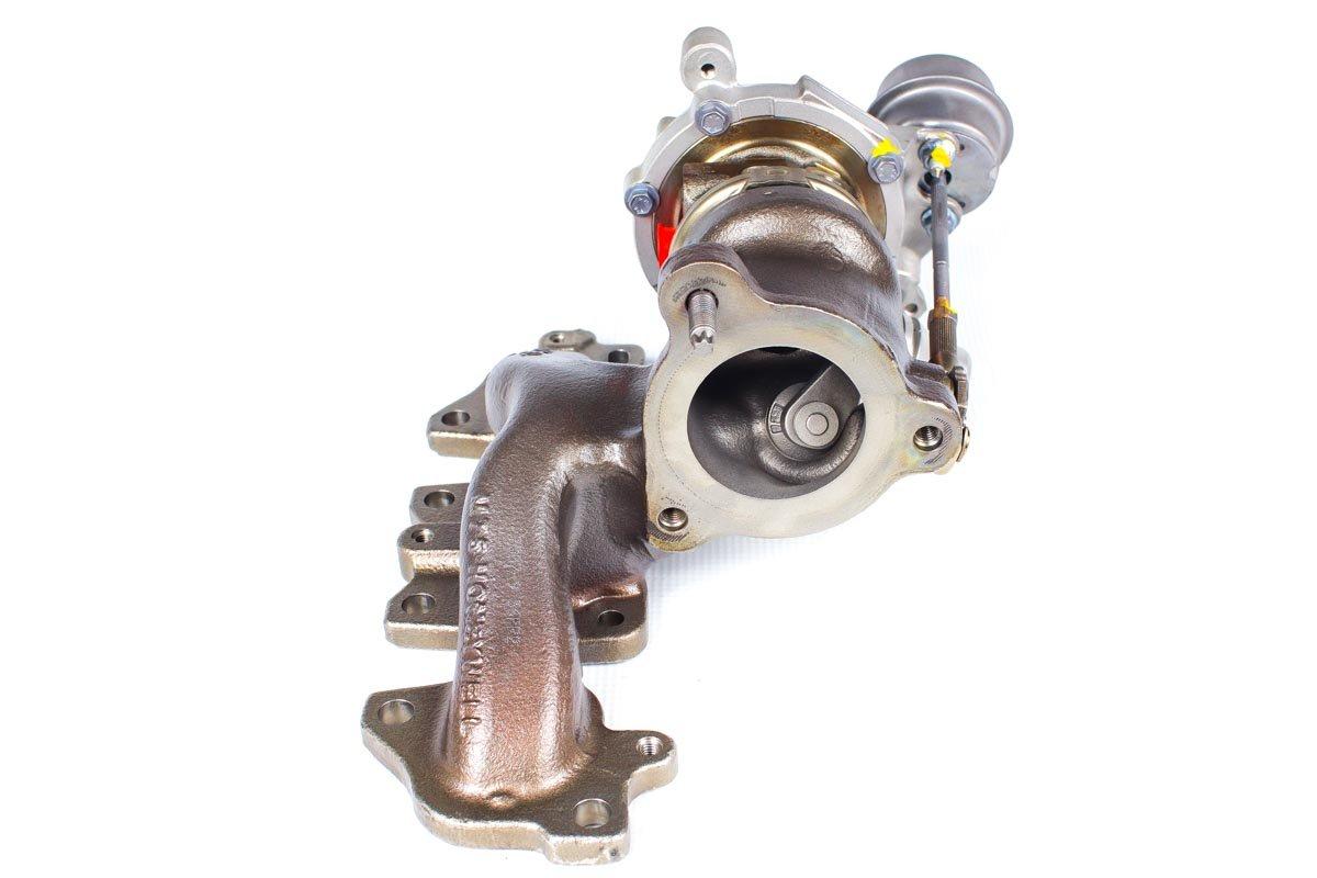 Turbo, układ doładowania numer {numerglowny} po zregenerowaniu w najnowocześniejszej pracowni regeneracji turbosprężarek przed odesłaniem do warsztatu samochodowego