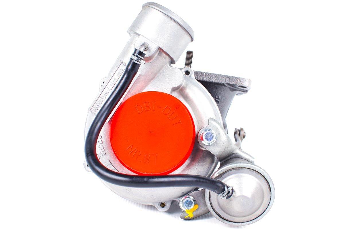 Turbosprężarka z numerem {numerglowny} po regeneracji w najnowocześniejszej pracowni regeneracji turbosprężarek przed wysłaniem do zamawiającej firmy