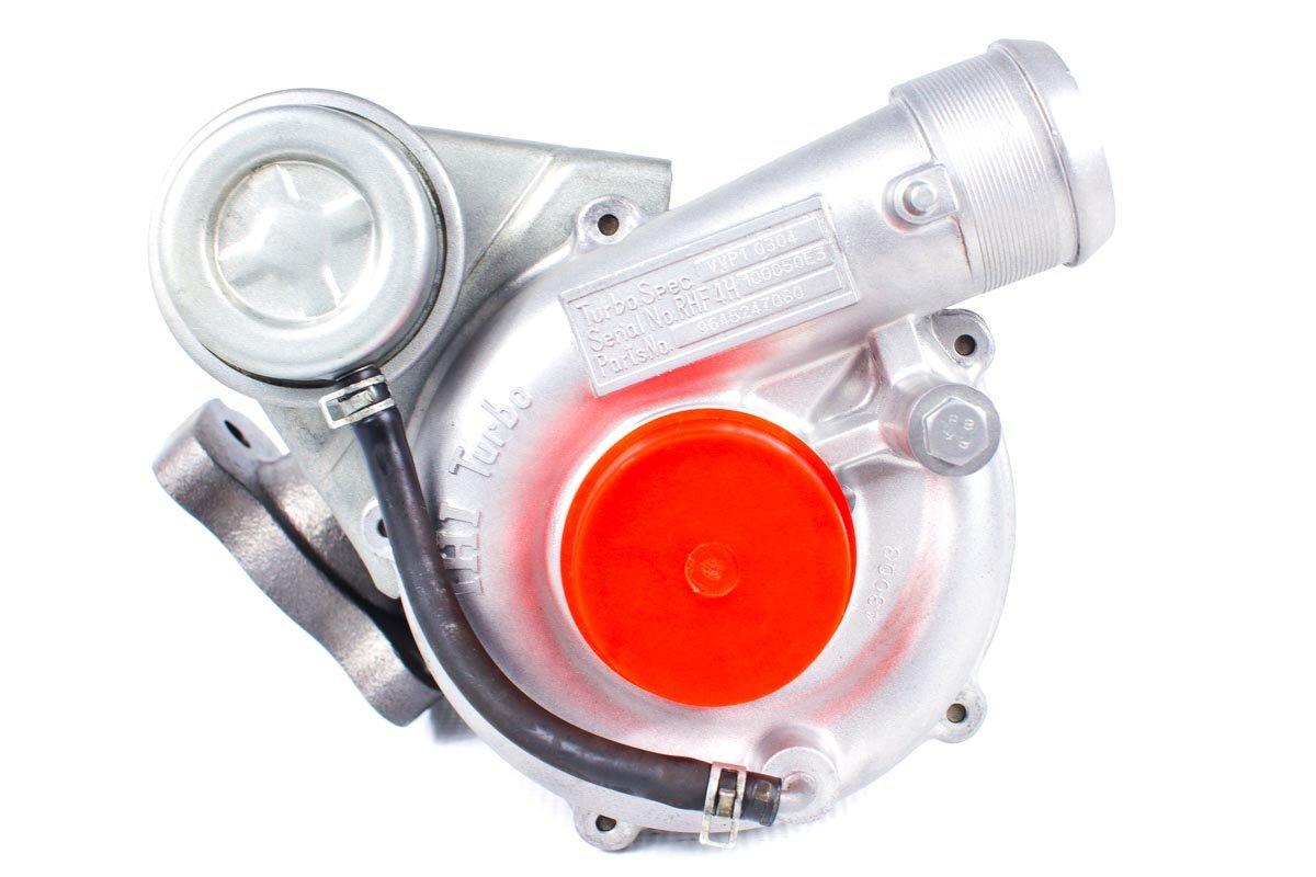 Turbosprężarka z numerem {numerglowny} po regeneracji w specjalistycznej pracowni przed wysyłką do zamawiającej firmy