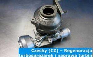 Czechy (CZ) – Regeneracja turbosprężarek i naprawa turbin w Czechach (Česko) – cała Europa