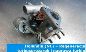 Holandia (NL) – Regeneracja turbosprężarek i naprawa turbin w Holandii (Nederland) – cała Europa