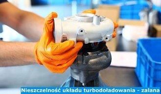 Nieszczelność układu turbodoładowania - zalana turbina