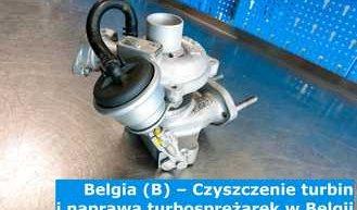 Belgia (B) – Czyszczenie turbin i naprawa turbosprężarek w Belgii – Cała Europa