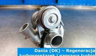 Dania (DK) – Regeneracja turbosprężarek i naprawa turbin w Danii (Danmark) – cała Europa