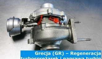 Grecja (GR) – Regeneracja turbosprężarek i naprawa turbin w Grecji (Ελλάδα) – cała Europa