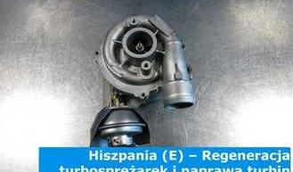 Hiszpania (E) – Regeneracja turbosprężarek i naprawa turbin w Hiszpanii (España) – cała Europa