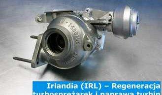 Irlandia (IRL) – Regeneracja turbosprężarek i naprawa turbin w Irlandii (Éire) - cała Europa