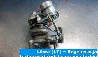 Litwa (LT) – Regeneracja turbosprężarek i naprawa turbin w Litwie (Lietuva) – cała Europa