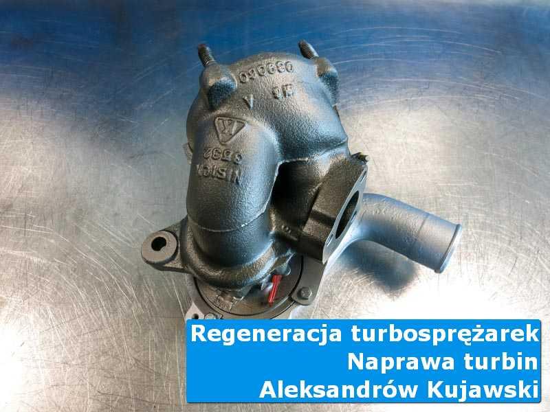 Turbosprężarka przed wysyłką na stole w laboratorium z Aleksandrowa Kujawskiego
