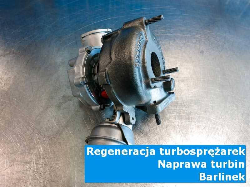 Turbosprężarka po wyważaniu na stole w laboratorium z Barlinka