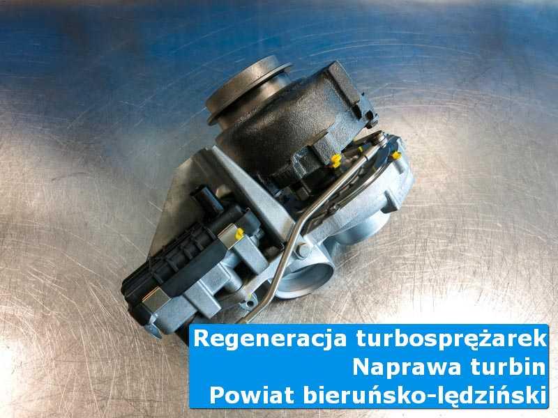 Turbina po przywróceniu sprawności na stole w laboratorium, powiat bieruńsko-lędziński