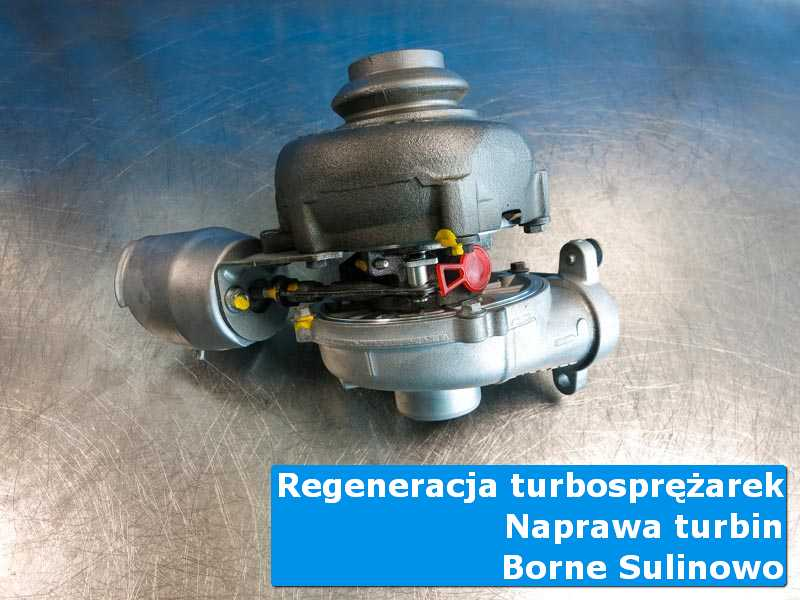 Turbosprężarka po przywróceniu sprawności w laboratorium w Bornym Sulinowie