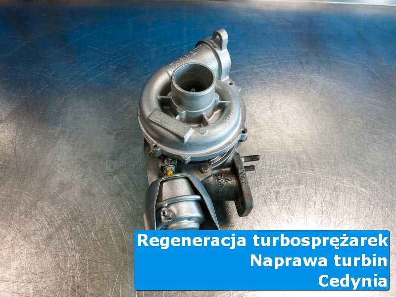 Turbosprężarka przed wysyłką w pracowni z Cedynie