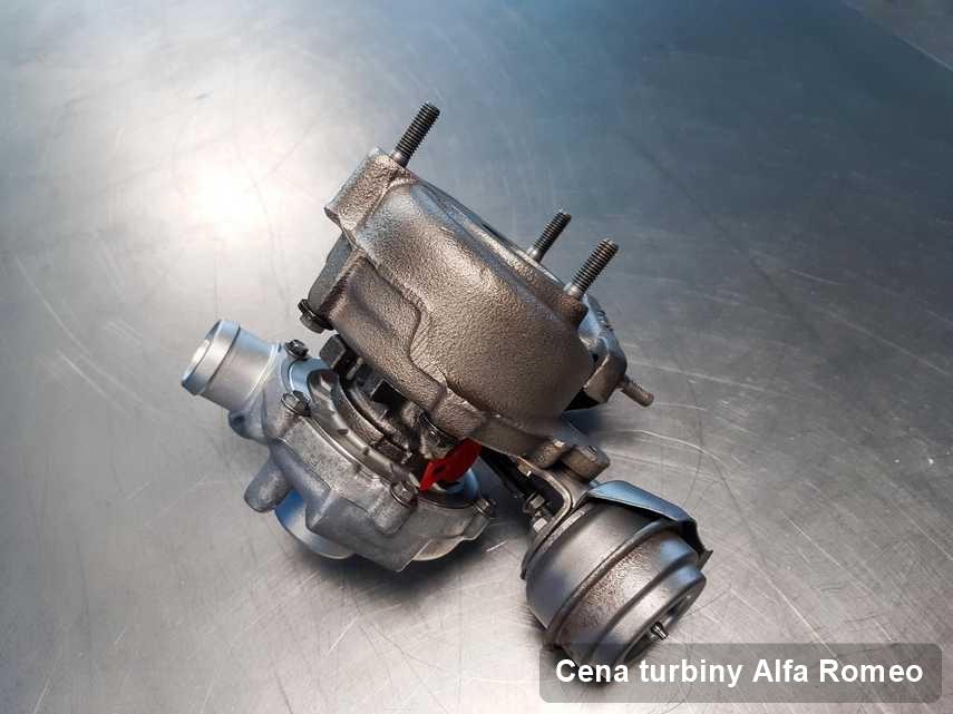 Turbosprężarka do samochodu z logo Alfa Romeo wyczyszczona w firmie gdzie zleca się serwis Cena turbiny