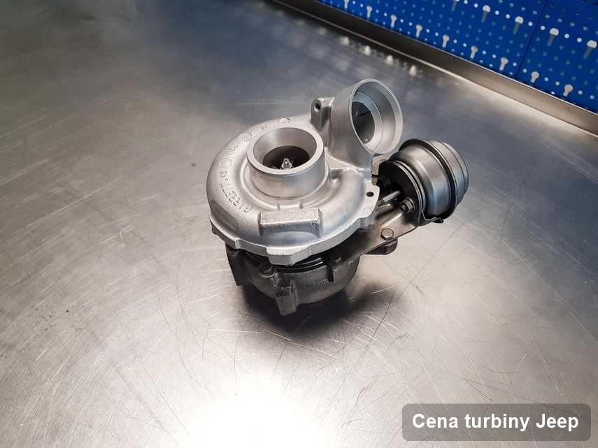 Turbosprężarka do samochodu osobowego producenta Jeep zregenerowana w warsztacie gdzie przeprowadza się  usługę Cena turbiny