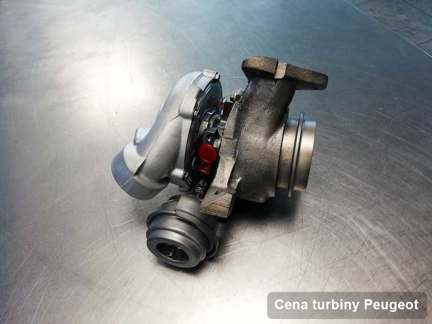 Turbosprężarka do auta osobowego marki Peugeot wyczyszczona w warsztacie gdzie przeprowadza się  usługę Cena turbiny