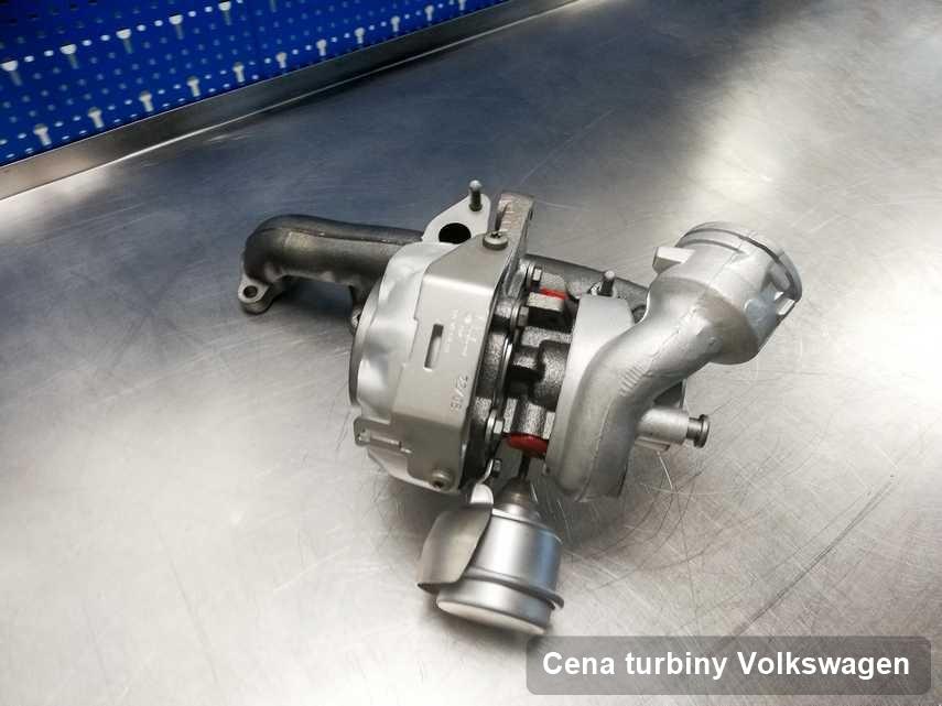 Turbosprężarka do auta osobowego sygnowane logiem Volkswagen naprawiona w warsztacie gdzie wykonuje się serwis Cena turbiny