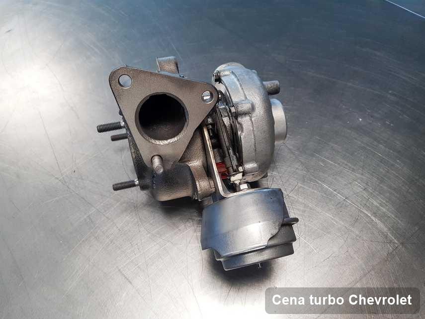 Turbina do osobówki spod znaku Chevrolet wyczyszczona w warsztacie gdzie przeprowadza się  usługę Cena turbo