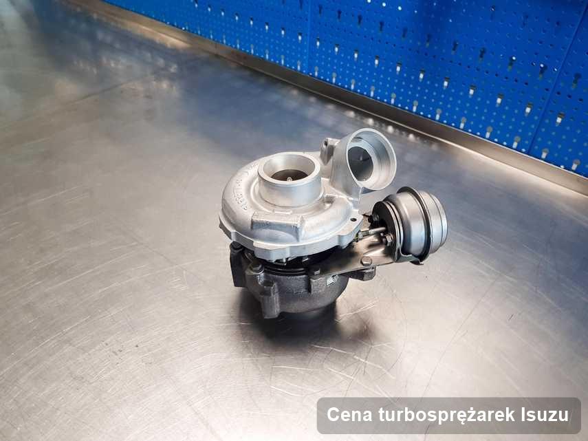 Turbina do samochodu spod znaku Isuzu wyczyszczona w laboratorium gdzie zleca się usługę Cena turbosprężarek
