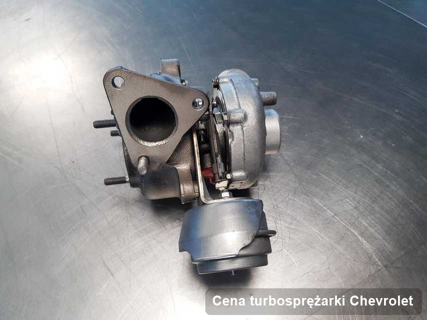 Turbina do samochodu marki Chevrolet naprawiona w przedsiębiorstwie gdzie przeprowadza się  serwis Cena turbosprężarki