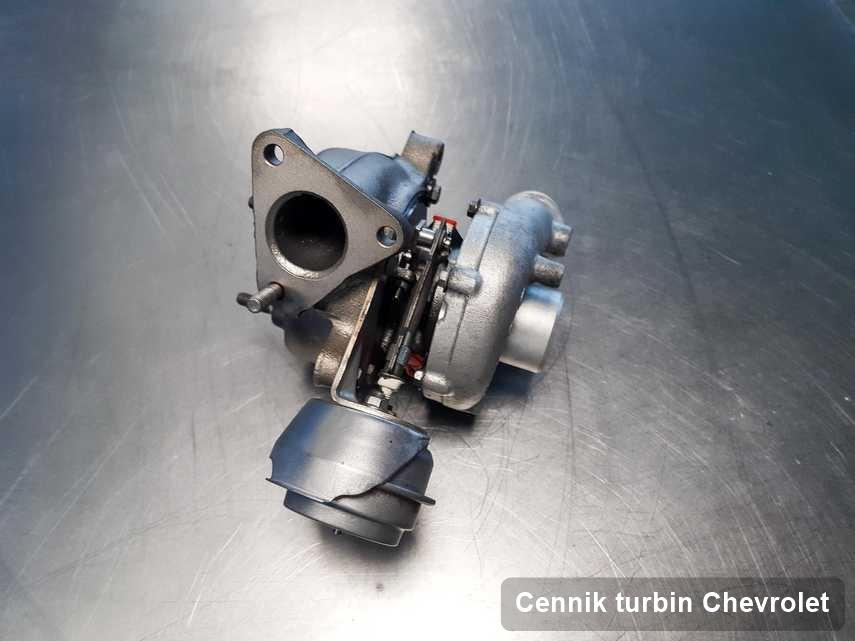 Turbina do samochodu osobowego producenta Chevrolet wyczyszczona w firmie gdzie wykonuje się serwis Cennik turbin