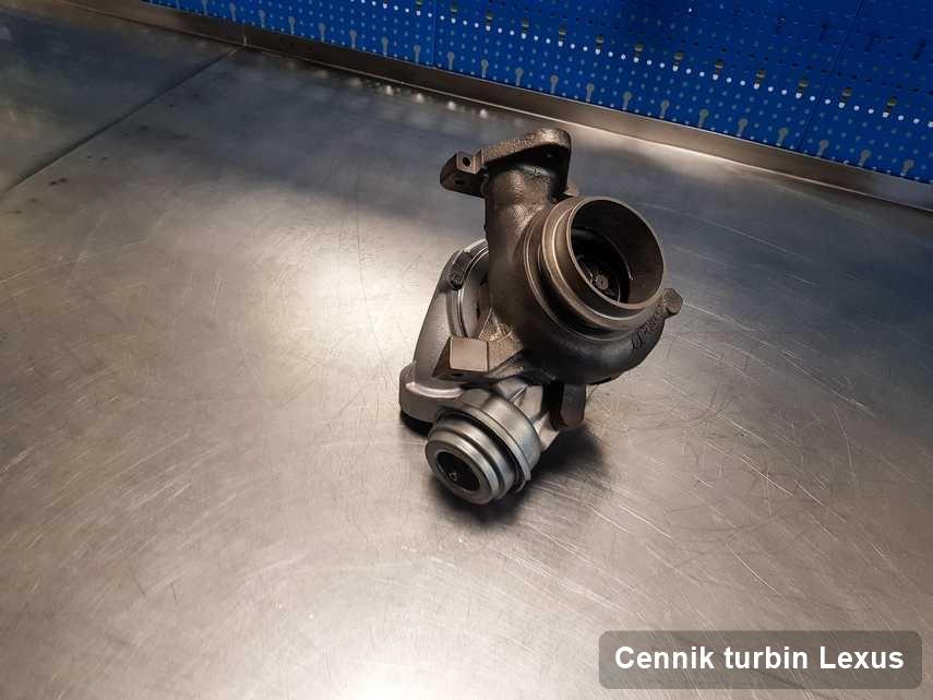 Turbosprężarka do samochodu spod znaku Lexus po naprawie w pracowni gdzie realizuje się serwis Cennik turbin