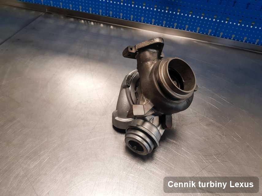 Turbosprężarka do osobówki marki Lexus zregenerowana w warsztacie gdzie wykonuje się usługę Cennik turbiny