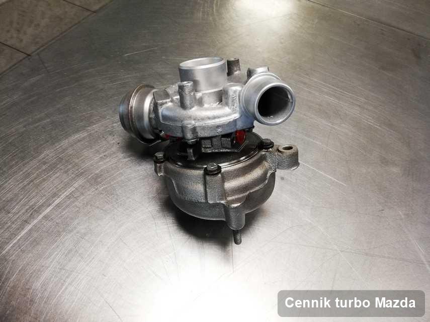 Turbosprężarka do samochodu marki Mazda naprawiona w laboratorium gdzie realizuje się usługę Cennik turbo