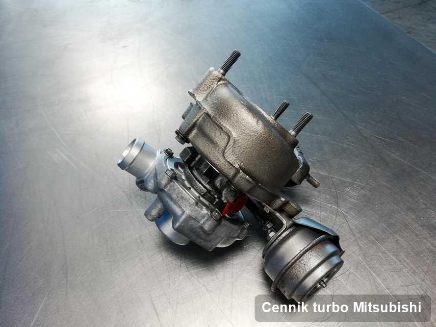 Turbina do pojazdu firmy Mitsubishi po remoncie w pracowni gdzie zleca się usługę Cennik turbo