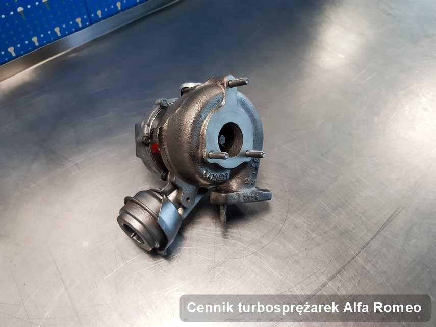 Turbosprężarka do diesla firmy Alfa Romeo wyremontowana w przedsiębiorstwie gdzie przeprowadza się  usługę Cennik turbosprężarek