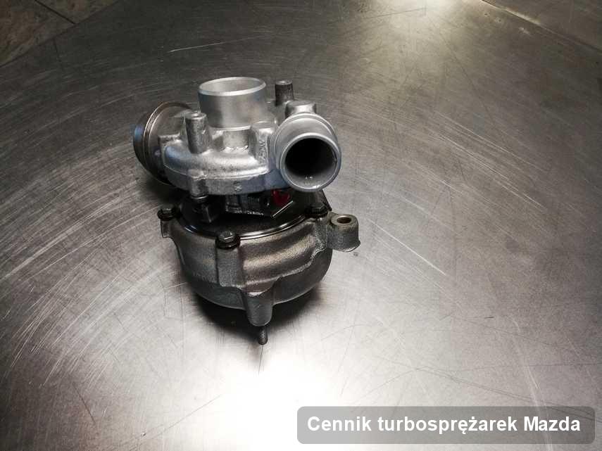 Turbosprężarka do pojazdu marki Mazda naprawiona w przedsiębiorstwie gdzie przeprowadza się  usługę Cennik turbosprężarek