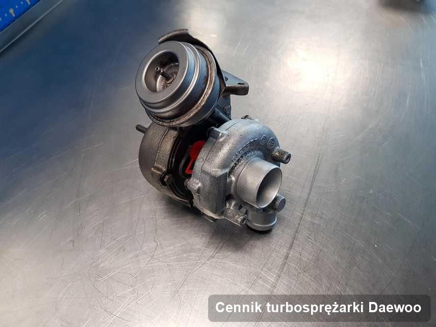 Turbina do samochodu producenta Daewoo wyremontowana w firmie gdzie zleca się usługę Cennik turbosprężarki